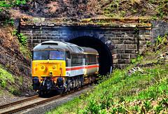 47828. (curly42) Tags: 47828 class47 duff brushtype4 preserveddieselloco svr tunnel foleypark locohauled intercitylivery transport travel railway railwaypreservation severnvalleyrailway d1966 47266 47629 joestrummer