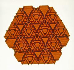 Daffodil tessellation (mganans) Tags: origami tessellation