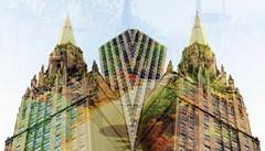 DSC_1967 copie (C&C52) Tags: paysageurbain landscape architecture immeuble temple lieudeculte parcnaturel plantes fleurs arbres nature surimpressions artnumérique