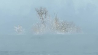 Vidéo: Fumée de mer sur le fleuve St-Laurent, _____ 28 décembre 2017 ____ Sea smoke  , Mar humeante