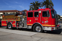 Los Angeles County Engine 100 (Code20Photog) Tags: los angeles county fire department station 100 hermosa beach california kme ford engine rescue emergency vehicle 911