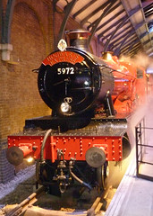 Hogwarts Express film set (Dave Russell (1 million views thanks)) Tags: hogwarts express train film movie set harry potter world leavesden studio stusios england original loco locomotive red transport steam engine 5972