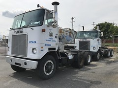 City of Philadelphia, PA 1987 White WH64T day cab tractors (JMK40) Tags: white volvo wh cummins ntc300 bigcam allison city philadelphia pa highwaydepartment government municipal tractor trailer truck