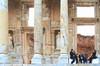 Ephesus Concert (lorinleecary) Tags: ephesuslibrary travel turkey artography concert digitalart musicians pillars ruins statutes painterly