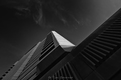 Shaft (red snapper 205) Tags: architecture building builtenvironment up blackandwhite bnw bw monochrome contrast clouds sky explore cities