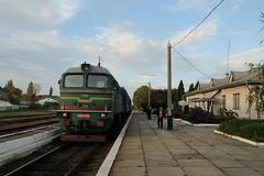 2M62 0909 with train 967 in Lipcani (Moldova) (berlinger) Tags: lipcani moldova 2m62 ukrainianrailways uz укрзалізниця ukrzaliznytsia train railways