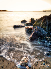Saturday Morning (Sean Daniel) Tags: ocean pacificocean rocks sunrise aurorahdr bc boats calm canada canon esquimalt hdr lagoon lazyshutter markii meditate mountains reflective relax splash tide vanvouerisland victoria waves wet yyj