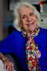 portrait of Mama G (jerica colon) Tags: women portrait happy oldwomen arrugas wrinkles lonely experience solitaria experiencia bufanda timida scarf