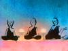 Three little Buddhas (Marco Braun) Tags: zazen buddha budhism buddismus chan seon meditation schwarz black weiss white blanche noire boddhi tree baum arbre buddhasiddharthabouddhaboeddhabudagautama blau blue bleu shakyamuni fó himmel sky ciel bianco graffiti wallart streetart будда बुद्ध 佛 仏陀 ブッダ ગૌતમબુદ્ ほとけ พระพุทธเจ้า