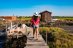 Dock'on! (amcatena) Tags: girl people woman ship boats pier fishing dock sea port portugal alentejo