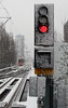 Code Rood (Maurits van den Toorn) Tags: tram tramway signal sein rood red rouge rosso denhaag thehague winter sneeuw snow schnee htm