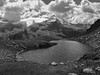 Koflersee und Rieserferner (giorgiorodano46) Tags: agosto2005 august 2005 giorgiorodano rivaditures reinintaufers lagodicovolo koflersee vedrettediries rieserferner altoadige sudtirolo nuvole clouds blackwhite bw lago lake see alpi alpes alpen alps alpiaurine mountain landscape
