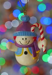 Snowman with Christmas Bokeh (Matt C68) Tags: macromondays memberschoicebokeh macro christmas tree decoration ornament lights snowman snow man xmas holiday season