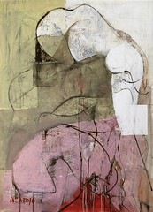 Bruno Varatojo — Composition IV, 2016. Painting: acrylic, enamel, gesso and ink on wood, 122 x 88 cm. Private collection. Abstract ExpressionismFigurative AbstractionSurrealism (ArtAppreciated) Tags: fineart painting blogs tumblr artblogs artappreciated artoftheday artofdarkness artofdarknessco artofdarknessblog bruno varatojo portuguese artist figurative abstraction contemporary abstract date2016 2016 art mixed media acrylic enamel gesso ink distortion surrealism surreal 2010s looking down profile head woman