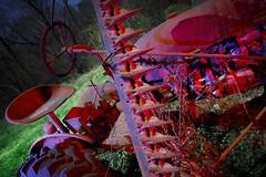 Blue-Red Tractor (Notley Hawkins) Tags: httpwwwnotleyhawkinscom notleyhawkinsphotography notley notleyhawkins 10thavenue lightpainting trees fall outdoors 2017 november night nocturne evening light bucolic ruralfarm missouri farm missouriphotography ruralphotography midwest ruralusa 光绘 光繪 lichtmalerei pinturadeluz ライトペインティング प्रकाशपेंटिंग tractor shadows