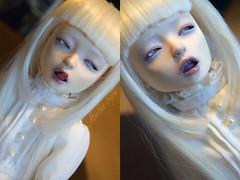 16 (Amberkyou) Tags: bjd abjd ball jointed doll ndl bleu citron bleucitron notdolllab notdoll lab white vampire albino faceup new helena tongue angel philia fimo mod self done
