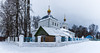 Winter landscape with Russian Church. (Oleg.A) Tags: ancient landscape russia church nature frost ryazanregion rural bell blue interior forest orthodox architecture old cathedral villiage winter white catedral landscapes sushki ryazanskayaoblast ru