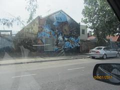 Street Art on way to airport (d.kevan) Tags: australia melbourne ontheroad streetscenes streetart