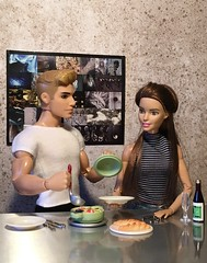 Bastian cooks Cacciucco (MaxxieJames) Tags: vittoria belmonte bastian hunter mattel doll dolls barbie ken cooking collector fashion fashionista made move superman brunette fish stew food miniatures