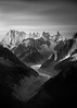 Grandes Jorasses from the Aig Rouges (shaun walby photography) Tags: grandesjorasses chamonix chamonixmontblanc montblancmassif mountains mountaineering mountainclimbing alpineclimbing alpinist blackandwhite monochrome shaunwalbyphotography mereduglace mountain dentdugeant aiguillederochefort shaunwalby landscape aiguille glacier dawn france frenchalps