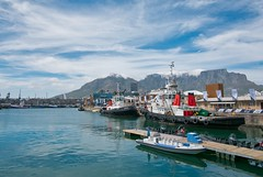Cape Town harbour and table mountain (michielpols) Tags: cape town waterfront travel south africa panasonic lumix mft city cities harbour fish fishery market water boats boat vessel ship dock yard sea fishing