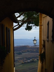 Panoramic view from Montepulciano (moniq84) Tags: montepulciano siena italy tuscany wine food toscana nature landscape window lamp street panoramic view