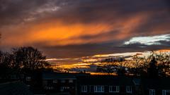 Sunset Little Sandhurst 13 December 2017 (2) (BaggieWeave) Tags: berkshire sandhurst littlesandhurst sunset orangesky atmospheric clouds