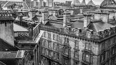 Newcastle architecture. . . (CWhatPhotos) Tags: cwhatphotos mono black white olympus esystem four thirds digital camera sigma 19mm art lens pictures picture photo photos image images foto fotos that have which contain taken newcastle tyne river chimney roof tops millenium bridge adobe lightroom em10 mk ii olympusomd retro look photography building buildings architecture old rainy rain wet day dull cold winter millenniumbridge thesage sage millennium