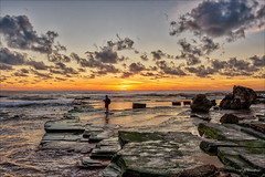 No distractions (JustAddVignette) Tags: algae australia beach clouds colours dawn landscapes newsouthwales northernbeaches ocean photographer rockshelf rocks seascape seawater sky sunrise sydney turimetta water waves