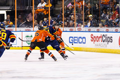 "Kansas City Mavericks vs. Colorado Eagles, December 16, 2017, Silverstein Eye Centers Arena, Independence, Missouri.  Photo: © John Howe / Howe Creative Photography, all rights reserved 2017. • <a style=""font-size:0.8em;"" href=""http://www.flickr.com/photos/134016632@N02/25271498588/"" target=""_blank"">View on Flickr</a>"