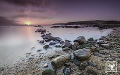Sunrise in Cushendun (W.G. Photography) Tags: cushendun coantrim northernireland uk sunrise longexposure landscape beach sand rocks colours clouds sky
