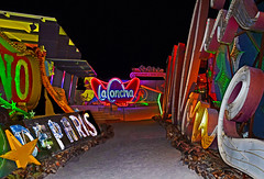 Where Las Vegas Goes to Die (oybay©) Tags: stardust uglyduckling lasvegas neonmuseum color colors moulinrouge inlove las vegas neon museum la concha moulin rouge shell architecture blue hour red modern design boulevard clark county nevada usa united states america boneyard duck sign star dust night