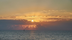 jlvill  057  Hasta mañana sol. (jlvill) Tags: mar cielo agua barco velero ocaso crepusculo atardecer nubes colores 1001nights 1001nightsmagiccity