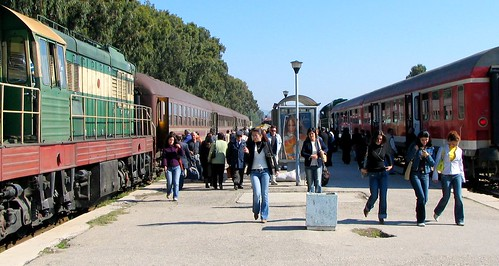 The albanian trains are well-used in 2005