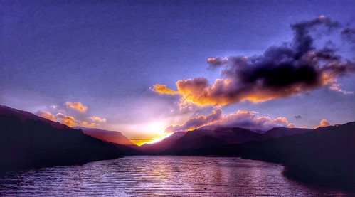 Llanberis pass sunrise.