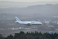ADB Antonov 124 landing at Prestwick (Allan Durward) Tags: antonov ruslan pik egpk prestwick airport glasgow scotland ayr ayrshire a77 road traffic ur82073 an124 antonovan124 antonov124