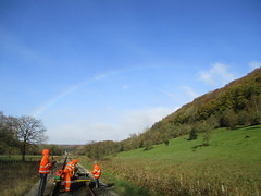 Wombles and Rainbow south of the station 12Nov17