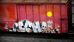 ICH - COR (timetomakethepasta) Tags: ich ichabod yme 63 colossus roads moniker freight train graffiti art boxcar benching selkirk new york