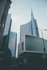 unicredit tower. (Nicole Favero) Tags: verde architecture archilovers love amazing mine building nikon camera reflex forever cute cool awesome milan places tower bank unicredit wow igers instagram lens 18mm lightroom place special crazy edit square gaeaulenti