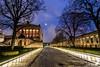 Museos (JoseQ.) Tags: nocturna berlin isla museos luces calle arquitectura columnas arboles horaazul cielo paseo