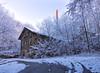 Kurbad (6) (david_drei) Tags: kurbad abandoned schornstein abendsonne lostplace lp lost verfallen schnee sachsen winter