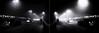 Satori (Novowyr (dead slow)) Tags: basel switzerland schweiz bridge brücke night nacht dark dunkel nebel fog mist cold kälte dezember december mirrored gespiegelt street strase city pedestrian fusgänger cars streetcar tram rücklichter taillights backlights loneliness einsamkeit alone streetlights laterne satori enlightment erleuchtung spirituality man people leute brume brouillard niebla novowyr diptych sony ilce7m2 carlzeiss e25mmf2 悟り