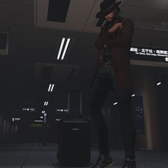 -Midnight Travels (Laith Swank) Tags: adclothing aprocalypse homage versov animosity inspiration subway photography photo pose urban urbansl blog blogger secondlife slphoto screenshot shadows fashion mensonlymonthly malefashion tumblr travel train windlight