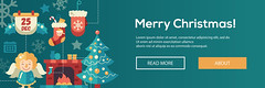 Christmas flat design website banners illustration set (Stephen Schmuhl) Tags: newyear christmas gift design illustration vector flat tree present celebration xmas decoration symbol winter sign snowflake holiday set snow santa icon trendy greeting element collection season modern december happy merry holidays claus infographics text card flyer template ornament eve banner web site page website party elf jingle bell snowman noel