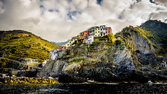 Manarola colgando, Cinque Terre (pepoexpress - A few million thanks!) Tags: nikon nikkor d750 nikond750 nikond75024120f4 24120mmafs storm clouds italy manarola cinqueterre mountains © all rights reserved do use photography withaut permision allrightsreserved