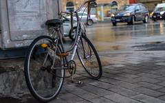 Genoa. Traffic. ((Paolo P)) Tags: genova genoa italia italy bici bike automobili cars traffico traffic paesaggiourbano cityscape pioggia rain