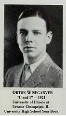 Orton H. Wisegarver, UofI University High at age 16, 1921 (RLWisegarver) Tags: piatt county history monticello illinois usa il