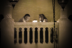 Rick's Cafe Casablanca     SAM_3095 -sepia -Incr. contrast (waitingfortrain) Tags: casablanamorocco rickscafecasablanca ricks casablancathemovie humphreybogartingridberman hereslookingatyoukid famousmoviethemedrestaurants love couple finedining wellalwayshaveparis