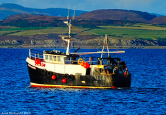 Scotland West Highlands Argyll a fishing trawler called Fionnaghal hauling its nets at sunset 21 September 2017 by Anne MacKay (Anne MacKay images of interest & wonder) Tags: scotland west highlands argyll fishing trawler fionnaghal hauling nets ship sea coast sunset xs1 21 september 2017 picture by anne mackay