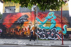 Crockdilla graffiti, São Paulo (duncan) Tags: sãopaulo saopaulo graffiti liberdade crockdilla
